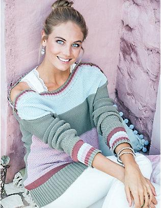Deerberg Baumwoll-Pullover Yordana gestreift