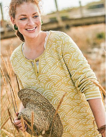 Deerberg Jacquardstrick-Pullover Rafailia gelb