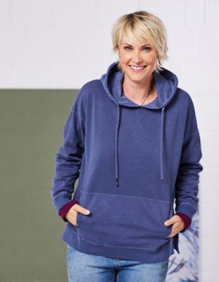 Deerberg Sweat-Shirt Zerina zinnblau-washed