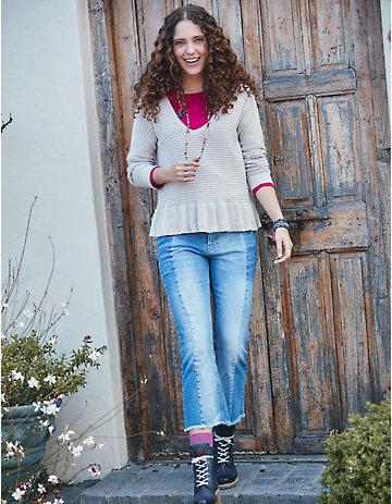 Deerberg Stretch Jeans Tavita blue-used-mid-denim