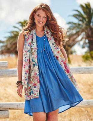 Deerberg Baumwoll-Kleid Liara blau