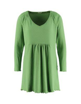 Deerberg Ajourjersey-Tunika Marlena grasgrün