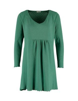 Deerberg Ajourjersey-Tunika Marlena zederngrün