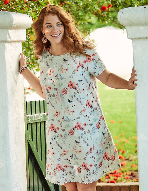 969c88803ff Leinen-Kleid Wibeke von Deerberg in bunt