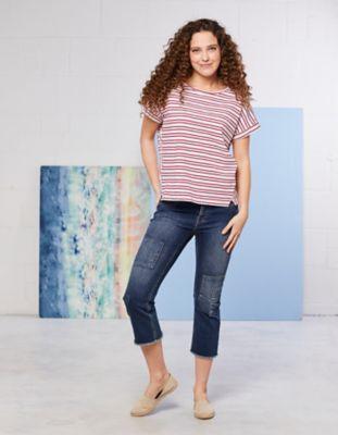 Deerberg Stretch-3/4-Jeans Effie dark-denim