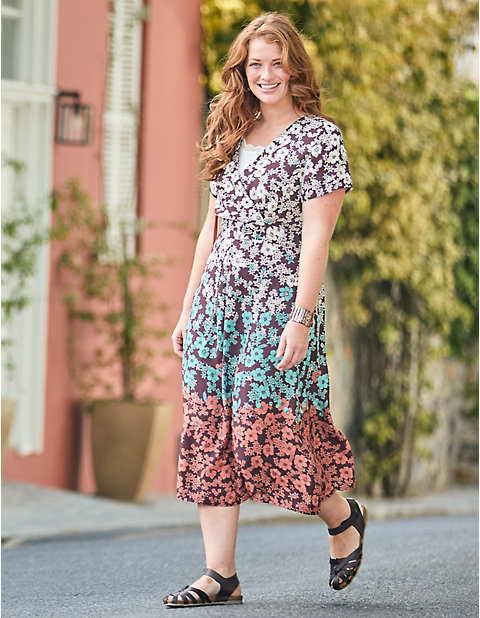 Deerberg Druck-Kleid, kurzarm Ortensia