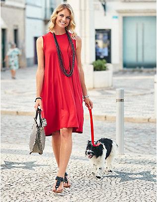 Deerberg Jersey-Kleid Minja rot