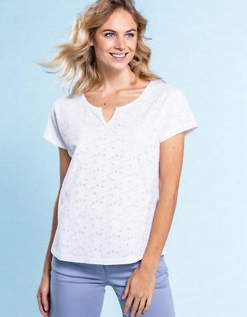 Deerberg Baumwoll-Shirt Tenea weiß