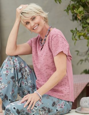 Deerberg Baumwoll-Shirt Tenea heiderose