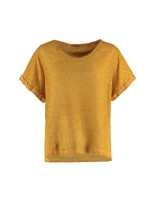 Deerberg Leinenmix-Shirt Leenke mango-washed