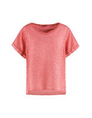 Deerberg Leinenmix-Shirt Leenke nelkenrot-washed