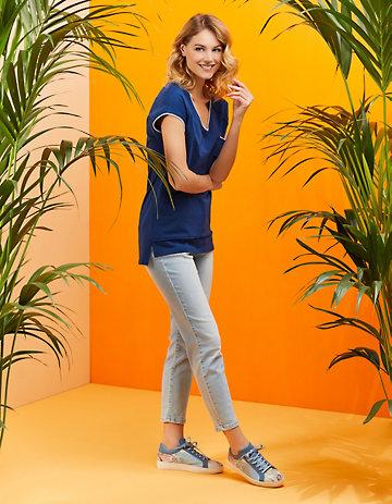 Deerberg Stretch-7/8-Jeans Soile light-denim
