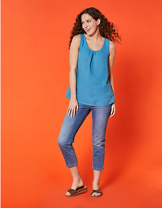 Deerberg Stretch-7/8-Jeans Tabea blue-used