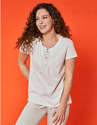 Deerberg Baumwoll-Shirt Eniz cremeweiß