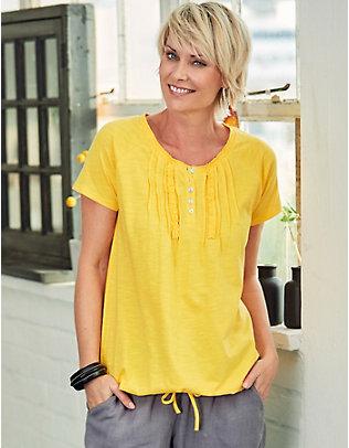 Deerberg Baumwoll-Shirt Eniz mimosengelb