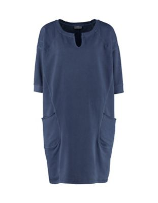 Deerberg Sweat-Kleid Ihana zinnblau-washed