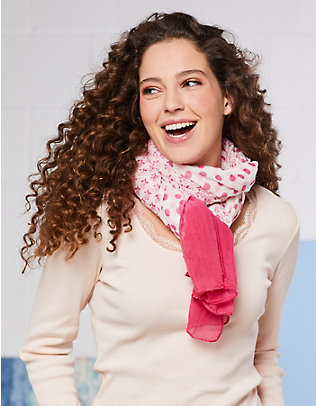 Deerberg Baumwoll-Schal Nanja pink