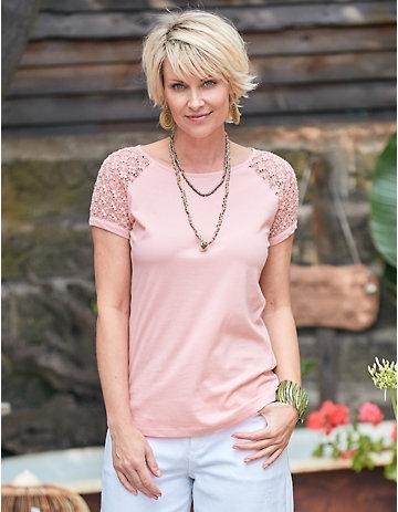 Deerberg Jersey-Shirt Tarya rosa