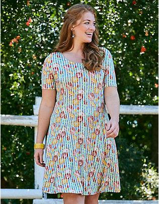 Deerberg Jersey-Kleid Svenika bunt-bedruckt
