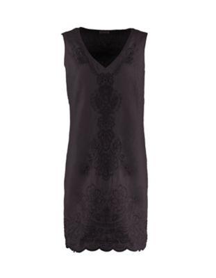 Deerberg Leinen-Kleid Fumane schwarz