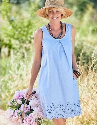 Deerberg Baumwoll-Kleid Nathira hellblau-melange