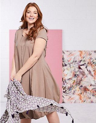 Deerberg Jersey-Kleid Faviola taupe