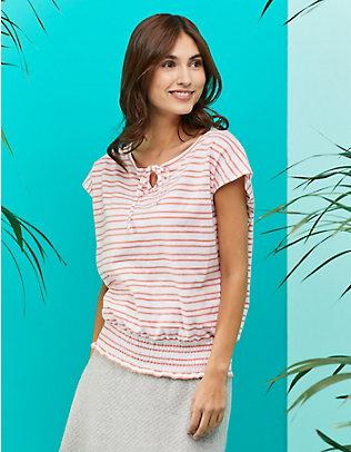 Laura Deerberg Baumwoll-Shirt Kersten lachspastell-weiß