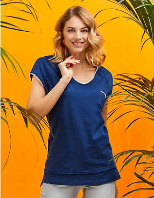 Laura Deerberg Jersey-Longshirt Ninna ultramarin