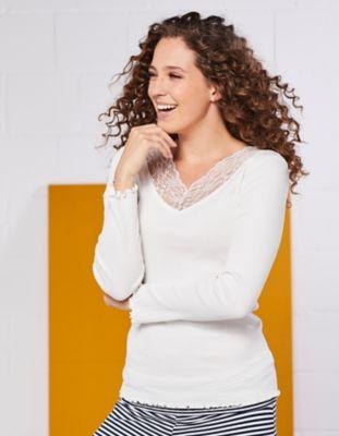 Deerberg Jersey-Shirt Gunva cremeweiß