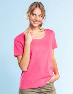 Deerberg Ajourjersey-T-Shirt Bertila gerberapink