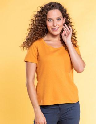 Deerberg Ajourjersey-T-Shirt Bertila aprikose