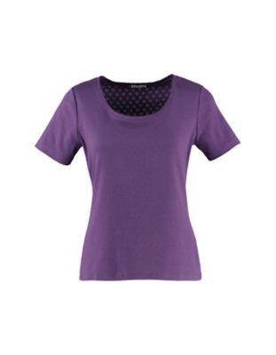 Deerberg Ajourjersey-T-Shirt Bertila krokus