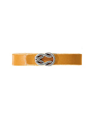 Leder-Armband Bele gelb