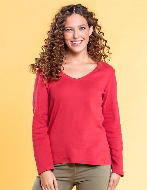 Deerberg Ajourjersey-Shirt Aleke