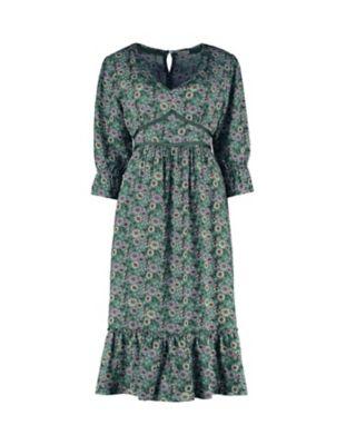 Deerberg Druck-Kleid Neta grün