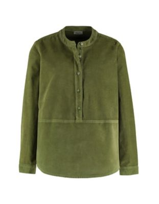 Deerberg Cord-Bluse Odilia grasgrün