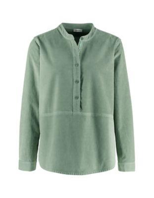 Deerberg Cord-Bluse Odilia dunkelrauchgrün