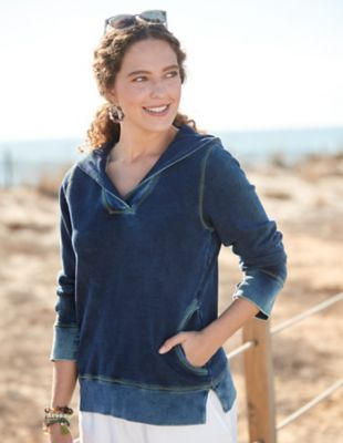 Deerberg Sweat-Shirt Teite indigo-washed