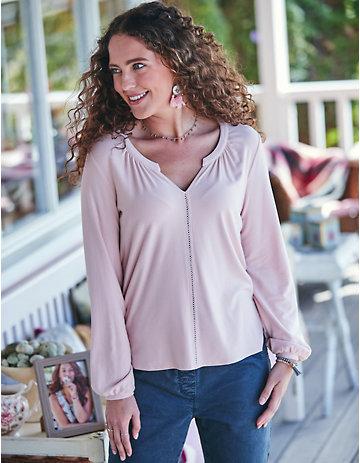 Deerberg Jersey-Shirt Yule rosé