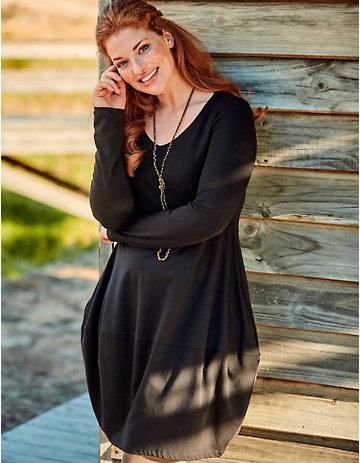 Deerberg Jersey-Kleid Tilke schwarz