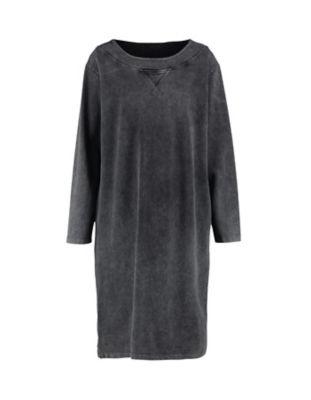 Deerberg Sweat-Kleid Hardina schwarz-washed