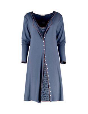 Deerberg Jersey-Doppelkleid Vivica blau-melange