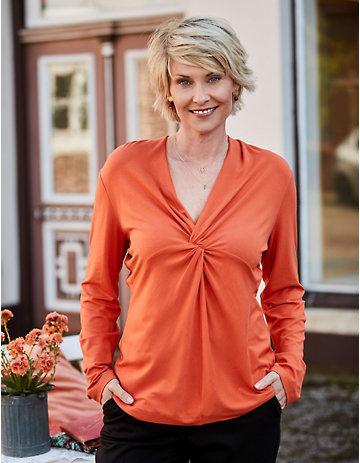 Deerberg Jersey-Shirt Noortje orangenschale