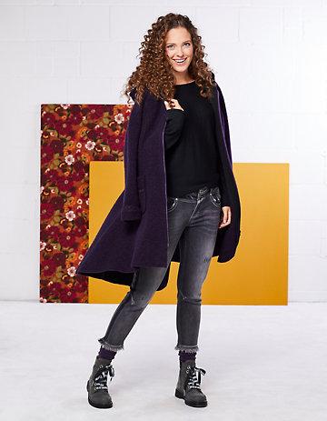 Deerberg Stretch-3/4-Jeans Nurit black-used