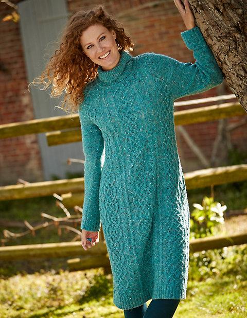 Deerberg Woll-Strick-Kleid Querina