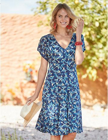 Deerberg Jersey-Kleid Brantje blau