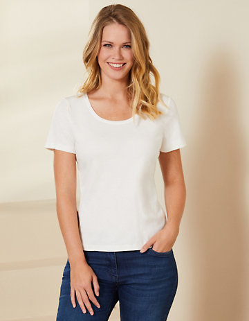 Deerberg Jersey-Shirt Freida weiß
