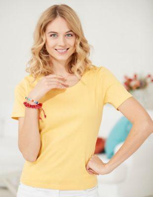 Deerberg Jersey-Shirt Freida mimosengelb