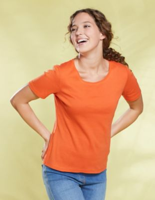 Deerberg Jersey-Shirt Freida tagetes