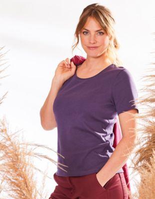 Deerberg Jersey-Shirt Freida brombeere